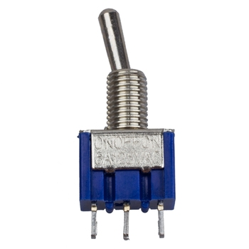 4 Gab AC 125V 6A 3 Pin SPDT On/Off/On 3 Pozīciju Mini tumblerus Zila