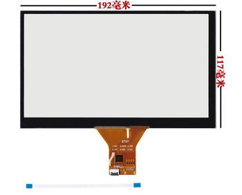 8 collu capacitive touch ekrāns 192 * 117 mm 1024 x600 GPS Android touch screen stikla panelis
